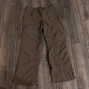 The North Face olive green pants. Size 4 short